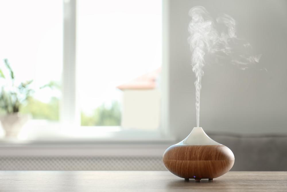 ultradźwiękowy nawilżacz powietrza z mgiełką pary wodnej