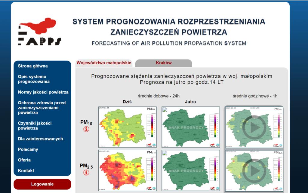 Sprawdź smog w województwie małopolskim