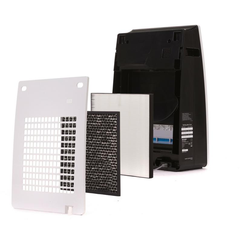 Oczyszczacz powietrza Sharp KC-F32EUW z wyjętymi filtrami