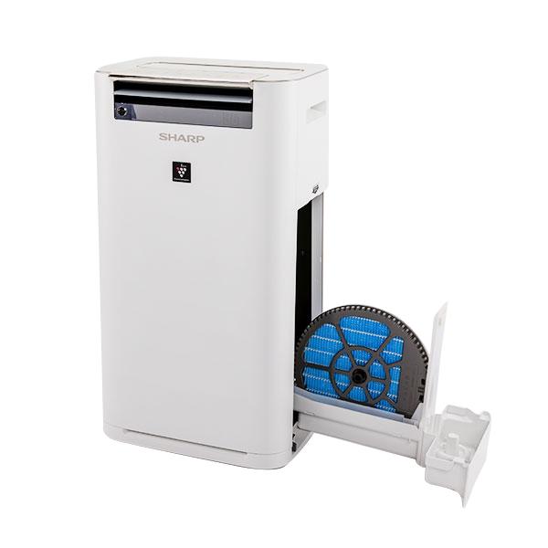 Oczyszczacz powietrza Sharp KC-G50EUW z wysuniętym filtrem wodnym