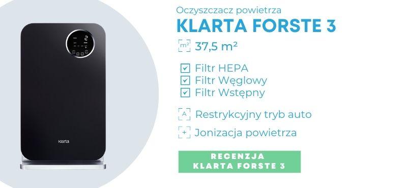 Oczyszczacz powietrza Klarta Forste 3 dla alergików