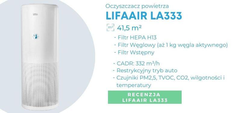 Oczyszczacz powietrza dla alergików Lifaair La333