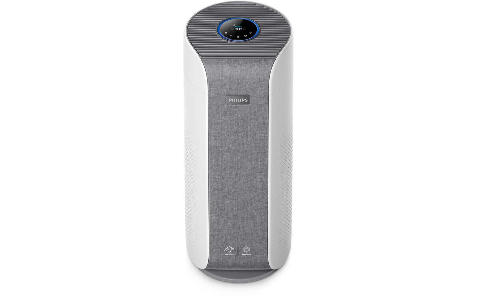 Oczyszczacz powietrza Philips AC3858/50 Dual Scan na białym tle.