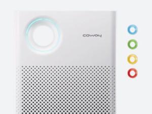 Wskaźnik kolorystyczny jakości powietrza w oczyszczaczu Coway Classic.