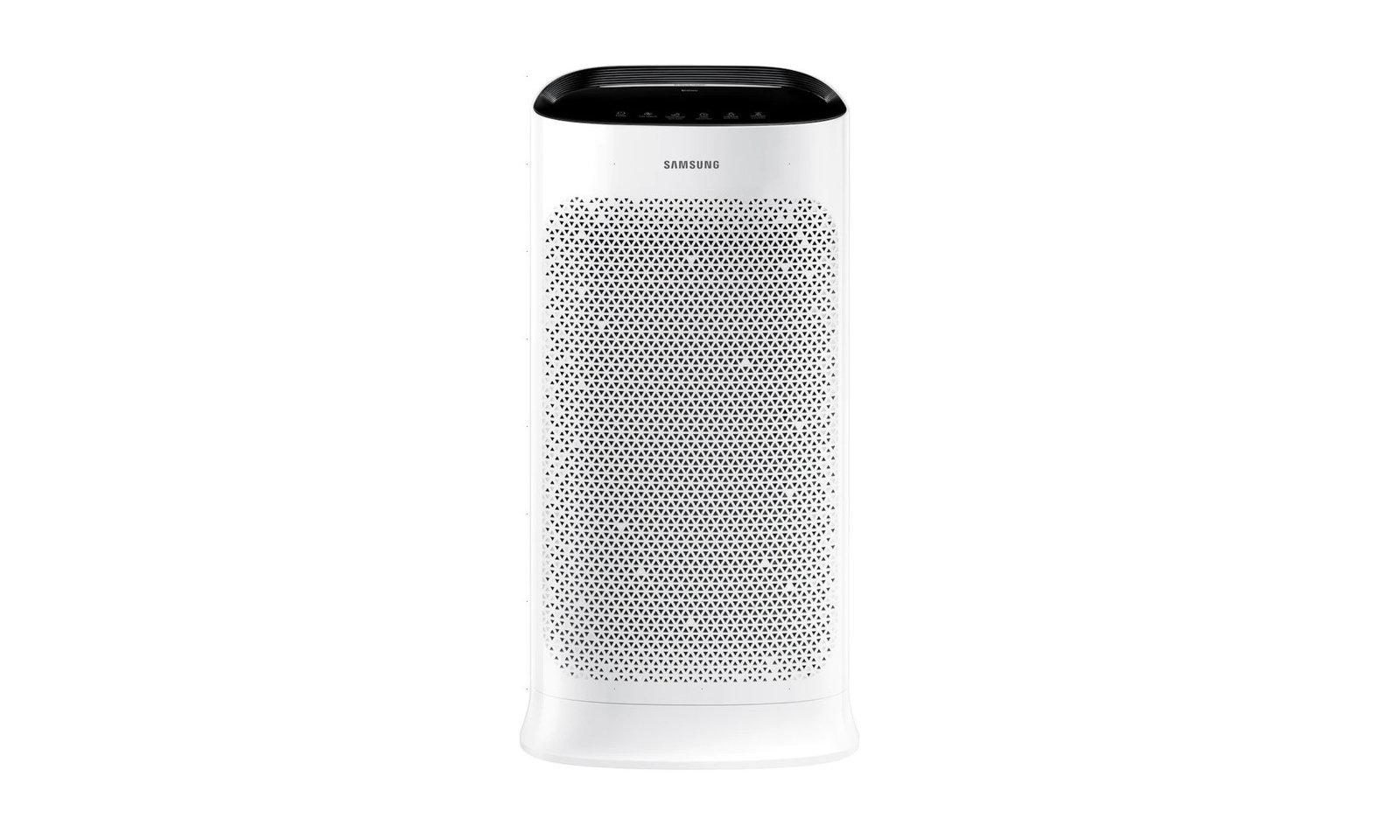 Oczyszczacz powietrza Samsung AX60R5080WD na białym tle.