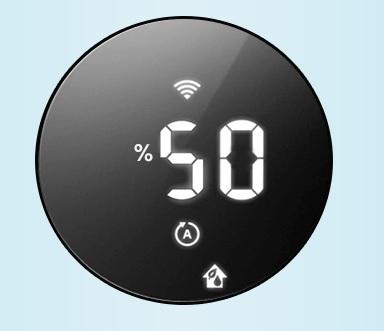 Wskaźniki poziomu nawilżenia powietrza w oczyszczaczu Philips AC3829/10.