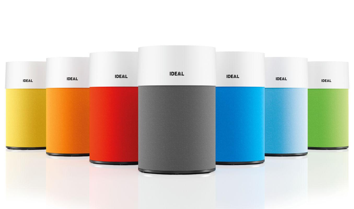 Oczyszczacz powietrza Ideal AP30 w różnych wersjach kolorystycznych.