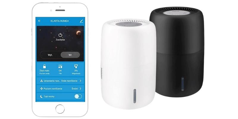 Nawilżacz powietrza Klarta Humea Wifi z aplikacja mobilna