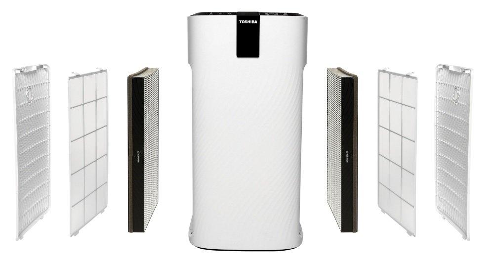 Filtry do oczyszczacza powietrza Toshiba CAF-X116XPL wraz z oczyszczaczem