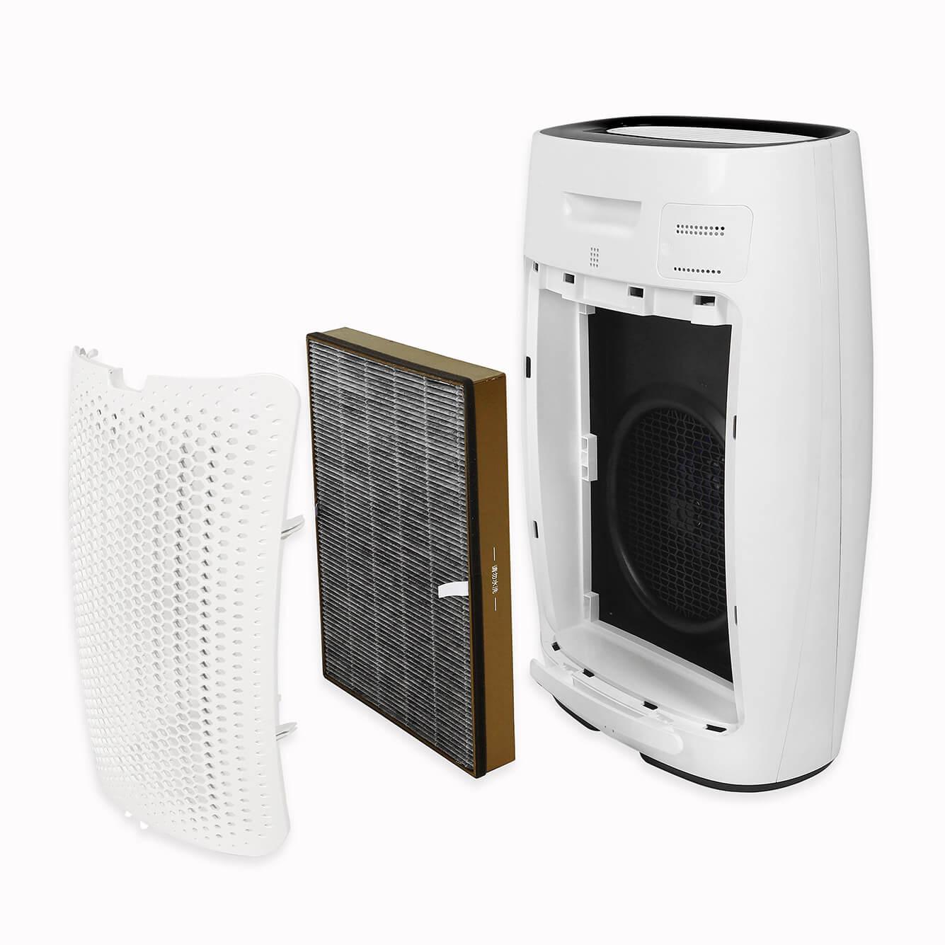 Filtry do oczyszczacza powietrza Toshiba CAF-X50XPL razem z oczyszczaczem