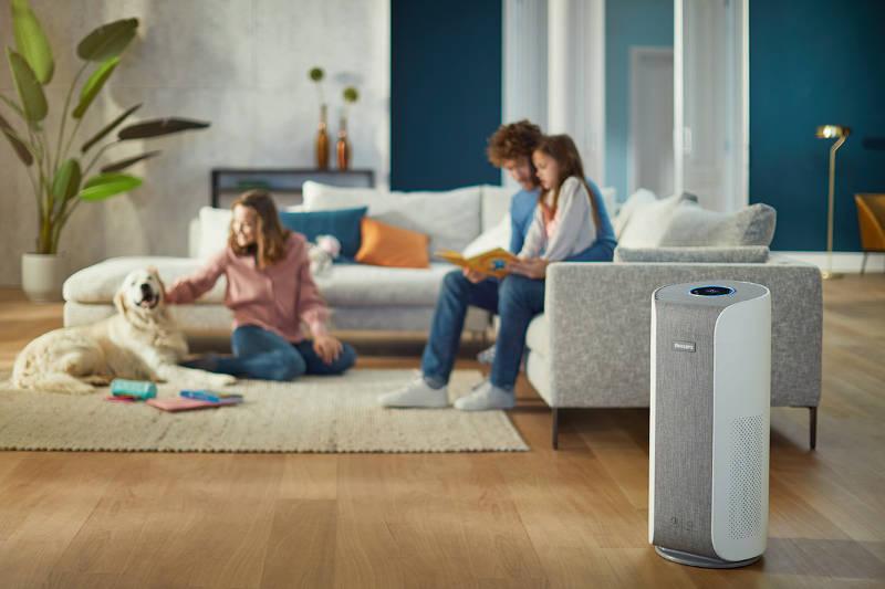 Oczyszczacz powietrza Philips Dual Scan AC3059-50 w pokoju