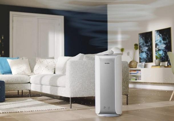 Oczyszczacz powietrza Philips Dual Scan AC3854/50 w salonie