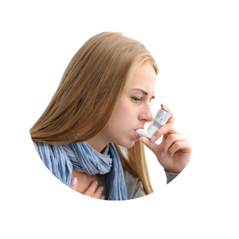 Dziewczyna z inhalatorem