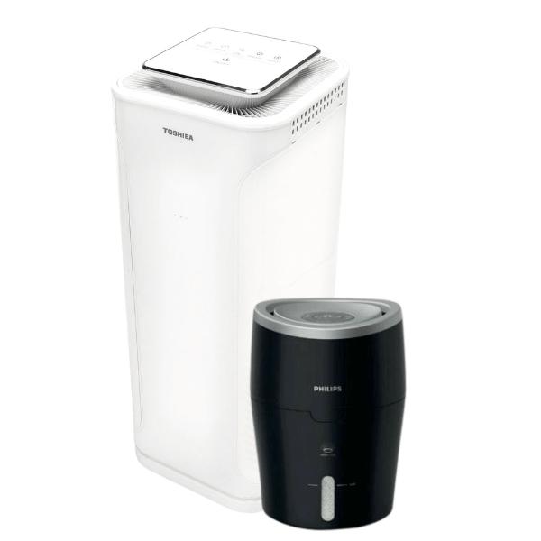 oczyszczacz powietrza toshiba i nawilżacz powietrza Philips