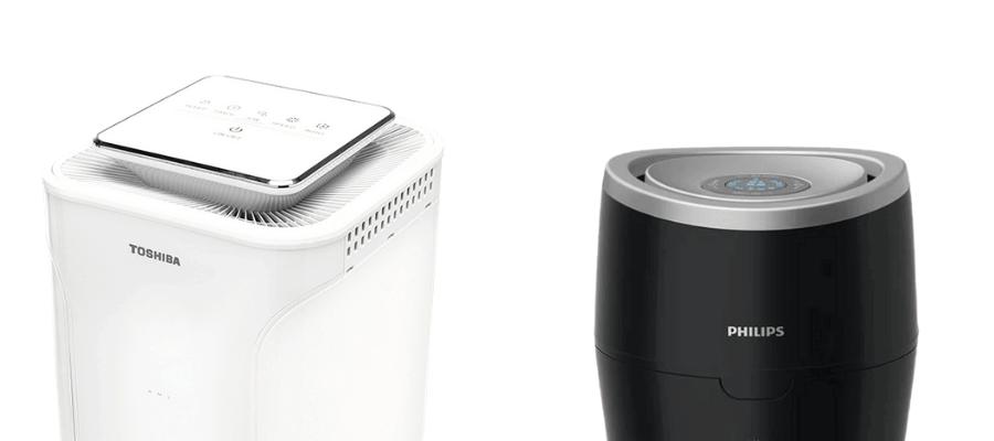 Oczyszczacz powietrza Toshiba caf-x83xpl i nawilżacz powietrza Philips HU4813/10