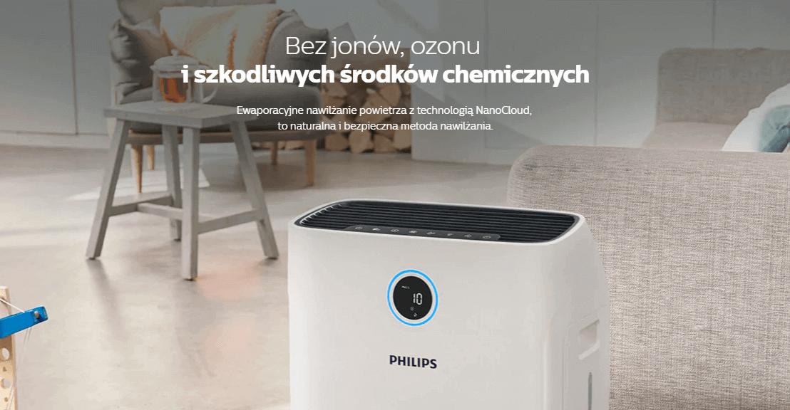 oczyszczacz powietrza z nawilzaczem 2w1 philips