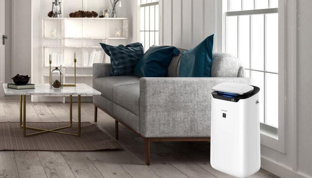 Oczyszczacz powietrza Sharp FP-J60EUW w salonie