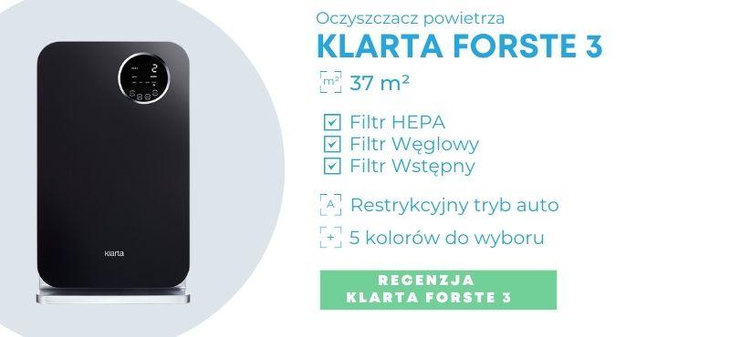 Baner oczyszczacza powietrza Klarta Forste 3