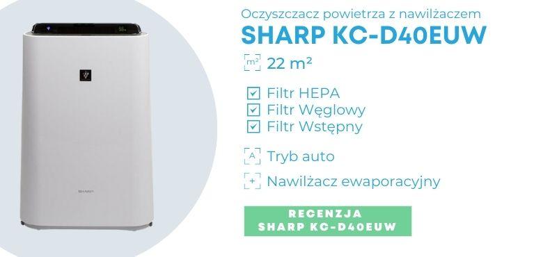 Baner oczyszczacza powietrza Sharp KC-D40