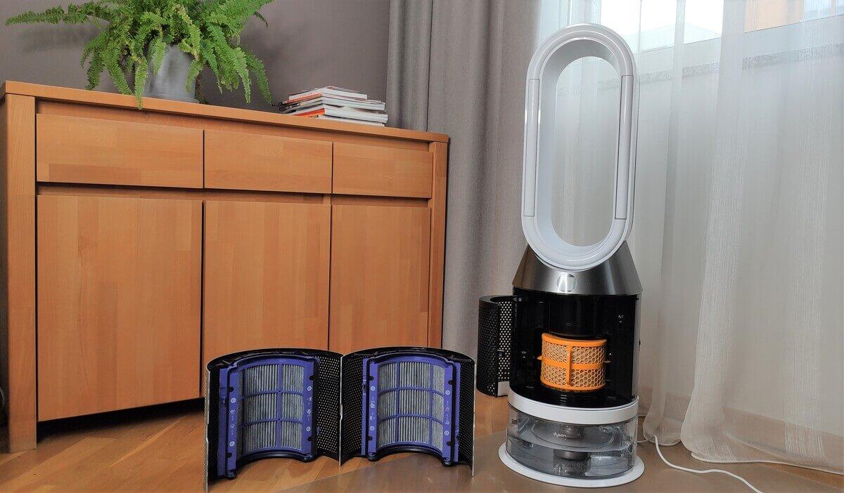 Rozłożony oczyszczacz powietrza Dyson Pure Cool | Wybierzoczyszczacz.pl