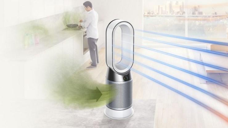 Oczyszczacze powietrza Dyson a przeplyw powietrza