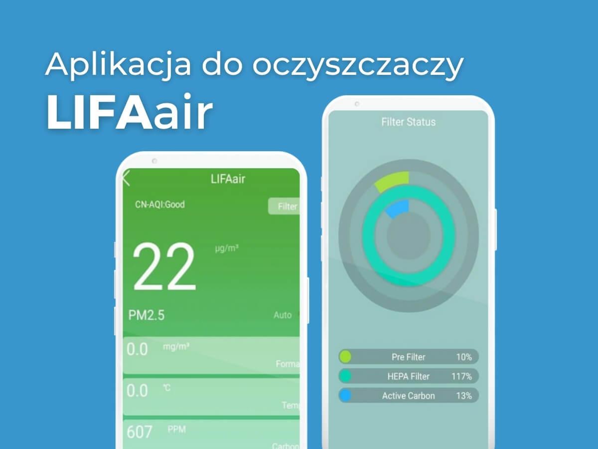 aplikacja do oczyszczaczy lifaair