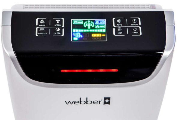 Panel sterowania w oczyszczaczu Webber AP9405B